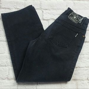 Lucky Women's Boot Leg Zipper Fly Black Mom Jeans